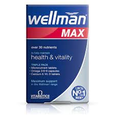 Vitabiotics Wellman Max -84 Tabs/Caps
