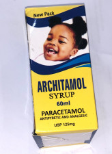 Architamol Paracetamol Syrup 125mg-60ml