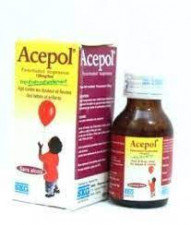 Acepol Paracetamol Suspension 120mg/5ml -60ml